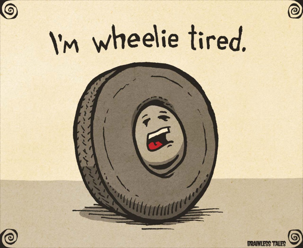 wheelie-tired